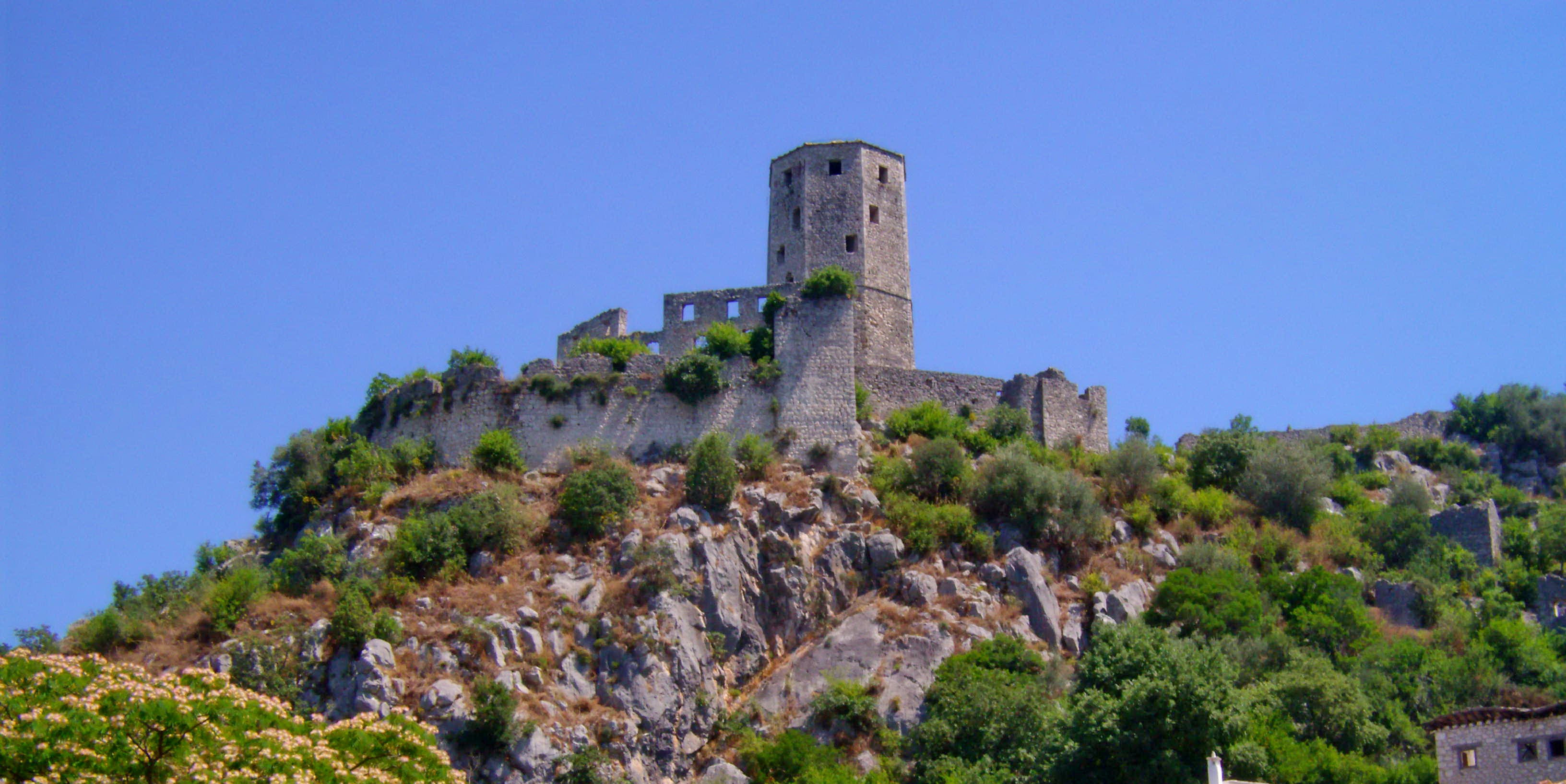 tower on the top of a hill